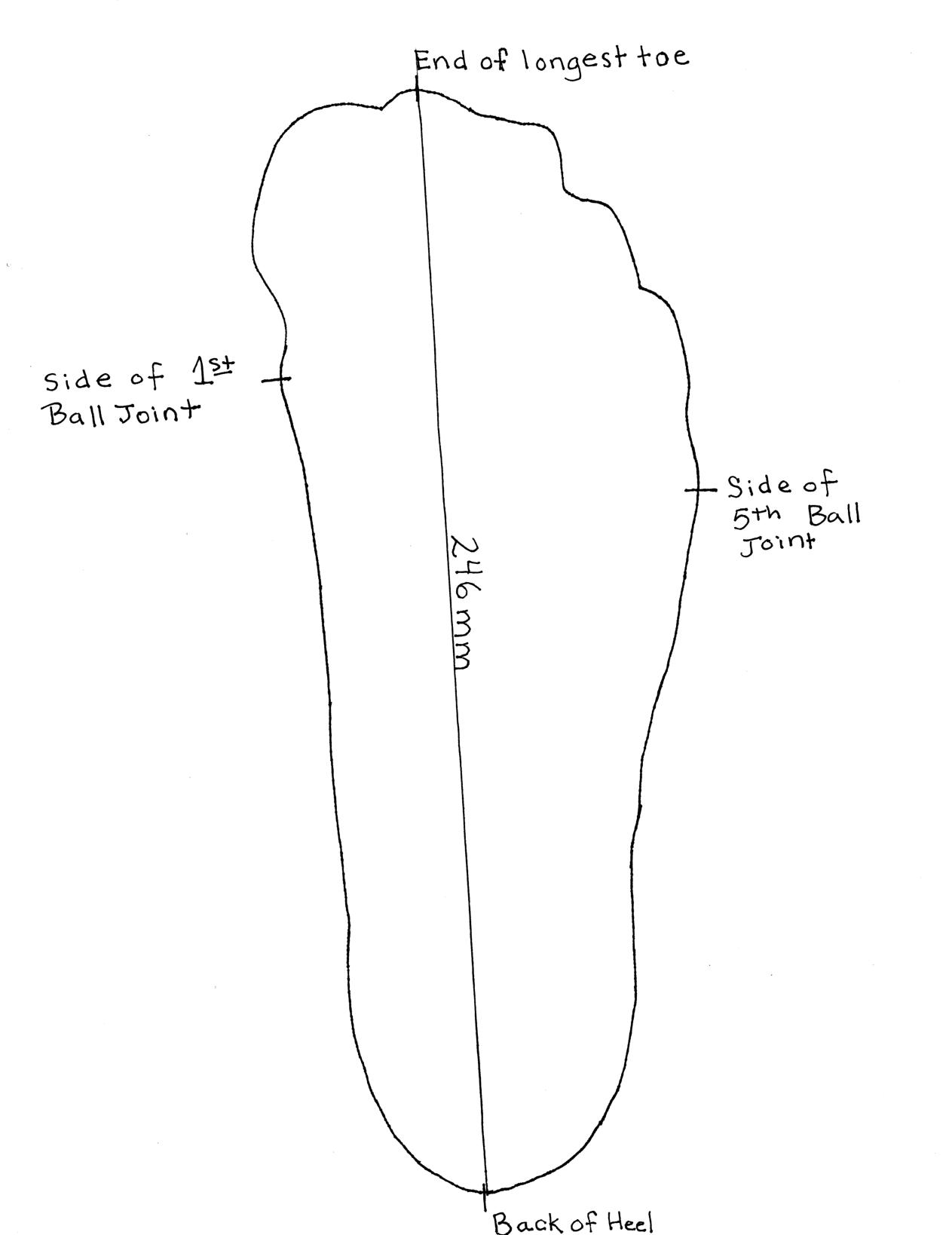 Foot Tracing for Making Bespoke Shoe Last