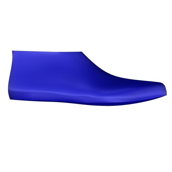 Brampton Men's Orthopedic Shoe Last Side