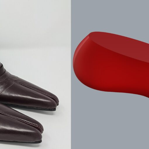 Slotted Toe Shoe Last and Shoes