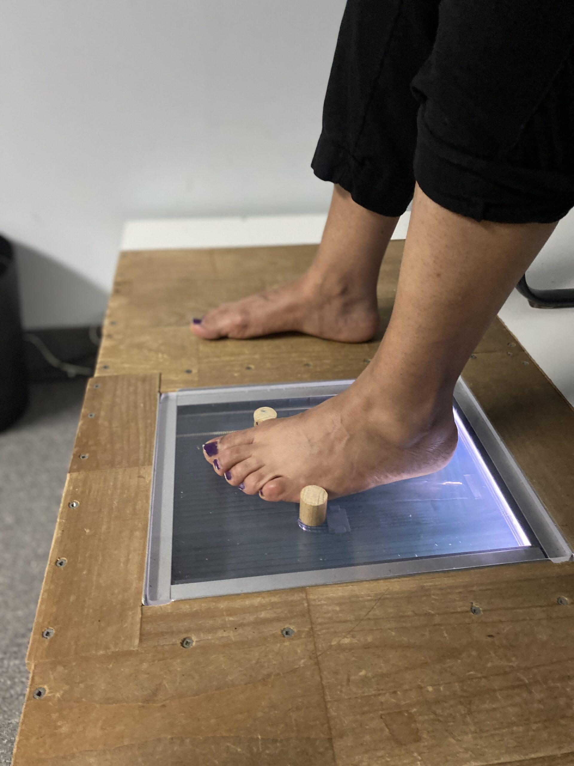 Foot Scan Platform Box for 2D Document Scanner