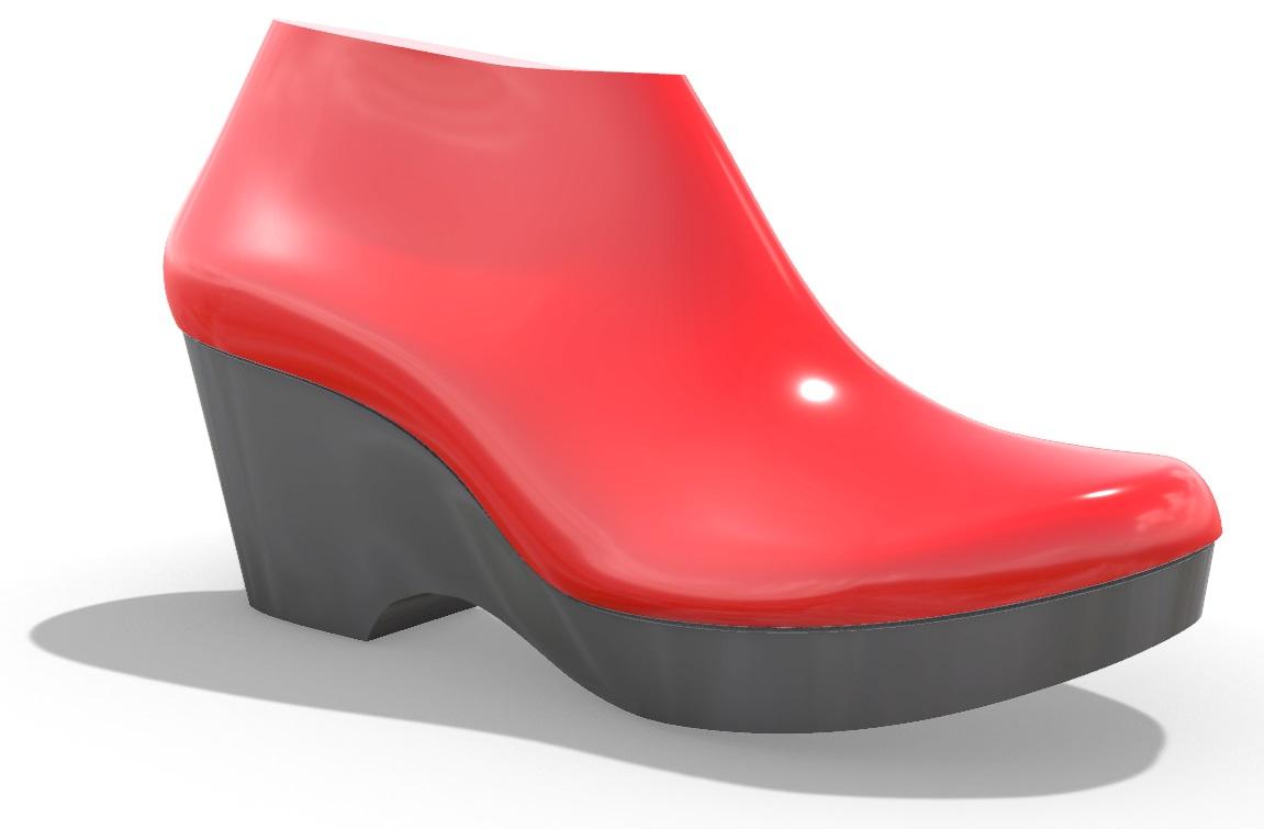 Medium Heel Shoe Last with Matching Platform Shoe Component